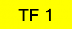 Number Plate TF1 Superb Classic Plate