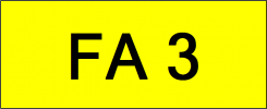 Number Plate FA3 Superb Classic Plate