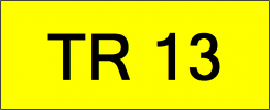 Number Plate TR13 Superb Classic Plate