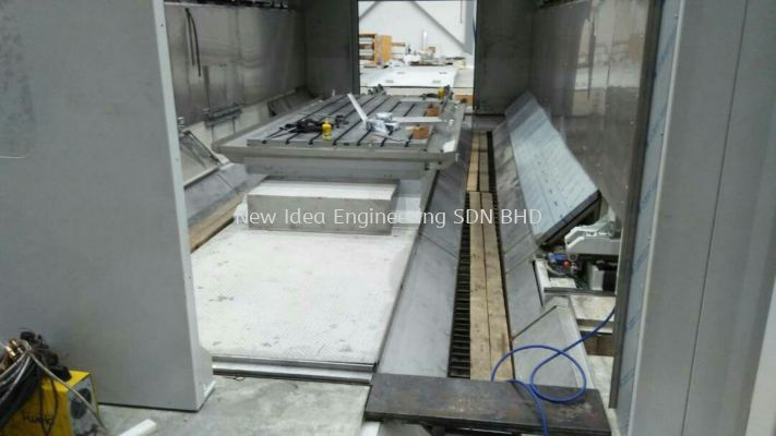Stainless steel platform and machine cover