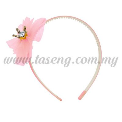 Hairband 1 LITTLE CROWN *BABY PINK (DU-HB1-BP)