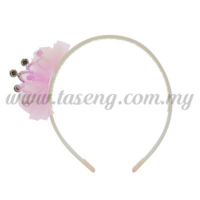 Hairband 2 LITTLE CROWN *BABY PINK (DU-HB2-BP)