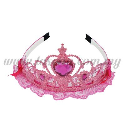 Hairband 3 LACE CROWN *PINK (DY-HB3-P)