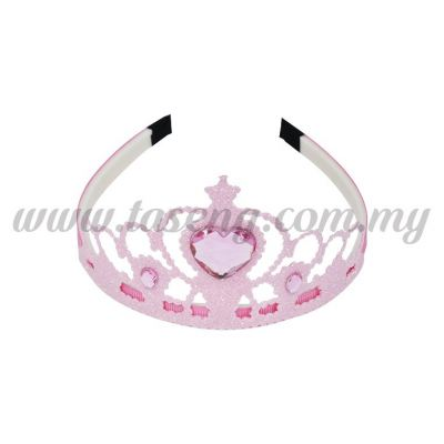 Hairband 4 DIAMOND CROWN *BABY PINK (DU-HB4-BP)
