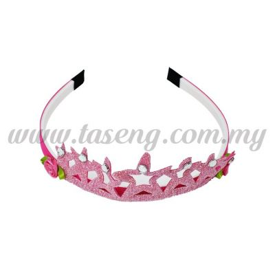 Hairband 6 STAR CROWN *PINK (DU-HB6-P)