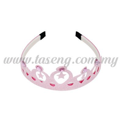 Hairband 6 STAR CROWN *BABY PINK (DU-HB6-BP)