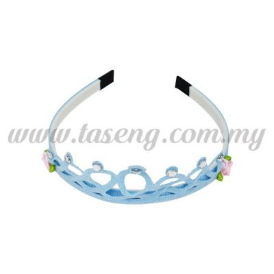 Hairband 7 ROUND CROWN *BABY BLUE (DU-HB7-BB)