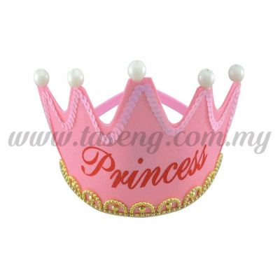 Hairband 10 CROWN PRINCESS (Light) *Baby Pink (DU-HB10-BP)