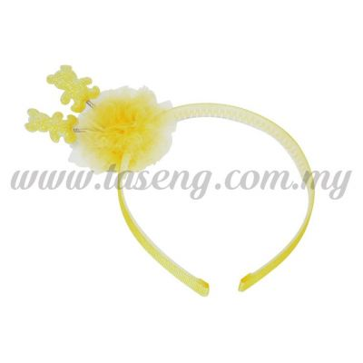 Hairband 14 SPRING BEAR *YELLOW (DU-HB14-Y)