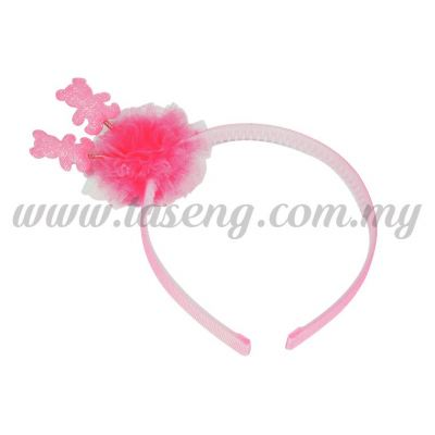 Hairband 14 SPRING BEAR *PINK (DU-HB14-P)