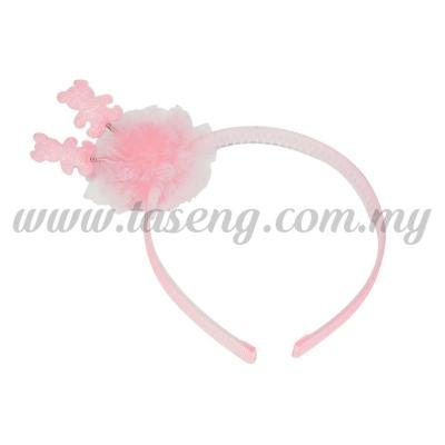 Hairband 14 SPRING BEAR  *BABY PINK (DU-HB14-BP)