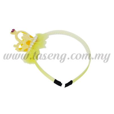 Hairband 15 LITTLE CROWN *YELLOW (DU-HB15-Y)