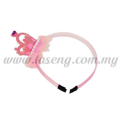 Hairband 15 LITTLE CROWN *PINK (DU-HB15-P)