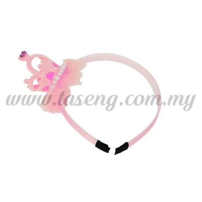 Hairband 15 LITTLE CROWN *BABY PINK (DU-HB15-BP)