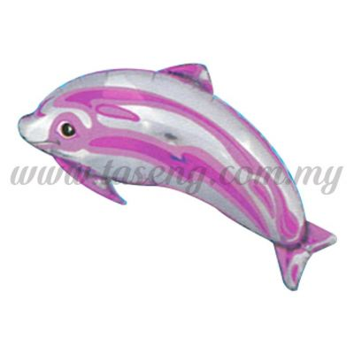 [Cartoon] Small Dolphin (Pink) Foil Balloon (FB-T004)