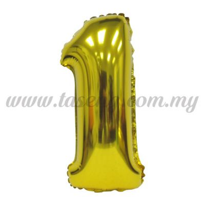 16inch Foil Balloon Number 1 - Gold (FB-16-1G)