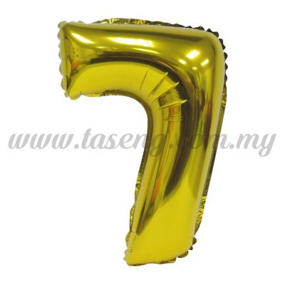 16inch Foil Balloon Number 7 - Gold (FB-16-7G)