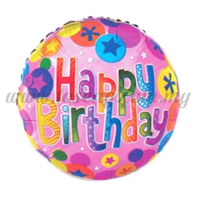 [Birthday] Round Foil Balloon *Happy Birthday (FB-C004)QX-394