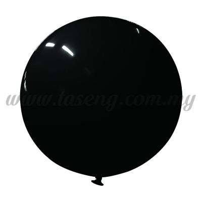 36inch Standard Round Balloon - Black (B-36SR-ST8)