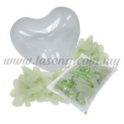 12 inch Heart Shape Balloon -Clear 100pcs (B-12HS-057P)