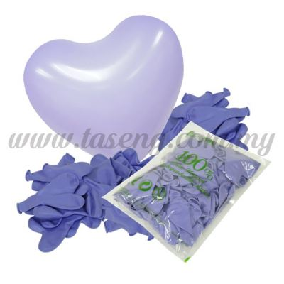 12 inch Heart Shape Balloon -Violet 100pcs (B-12HS-056P)