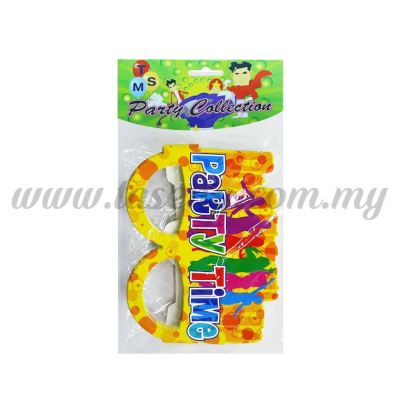 Paper Glasses *Party Time 10pcs (F-PG-04)