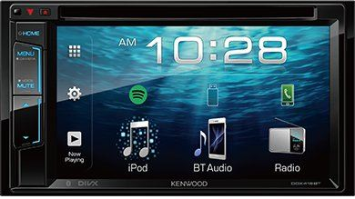 DDX418BT 2 Din AV Receiver with 6.2inch WVGA Clear-coated Display