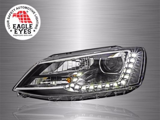 VW Jetta Projector LED DRL Head Lamp 11~16