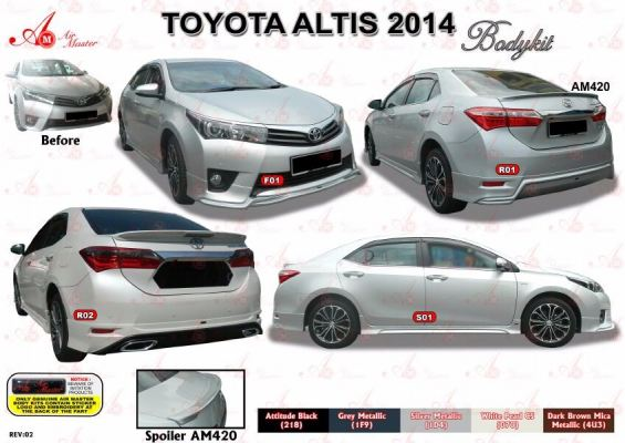 Toyota Altis AM bodykit 2014
