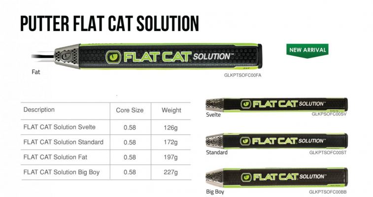 Lamkin Putter Grip Flat Cat Solution