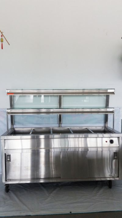 Bain Marie Five Compartment With Display Showcase RM2000.00