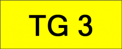 Number Plate TG3 Superb Classic Plate