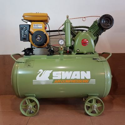 Swan HVU-203 Air Compressor 12bar 5hp Honda GX160 Petrol Engine IDB0063