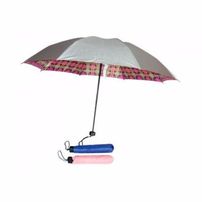 21 Mini 3 Fold Silver Coated Umbrella
