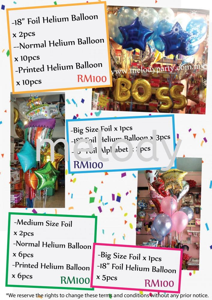 November Balloon Package Promotion!!
