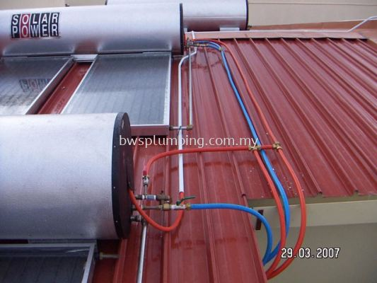 Polyethylene Aluminium (PA) Solar Hot Water Piping Installation, Plumber in Selangor
