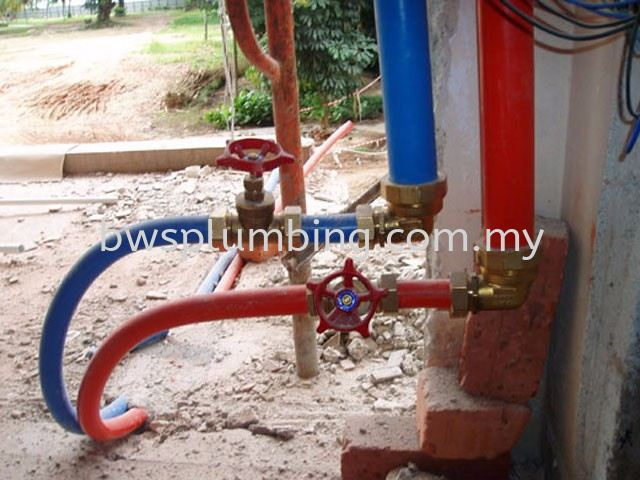 Polyethylene Aluminium (PA) Solar Hot Water Piping Installation, Plumber in Selangor Hot water piping Piping Installation