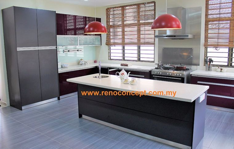 Azzudin (3 Pictures) Modern Contemporary Kitchen Cabinet