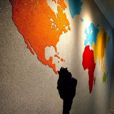 Call Now If You Want Colorful Simple Mapping On Wall D��cor