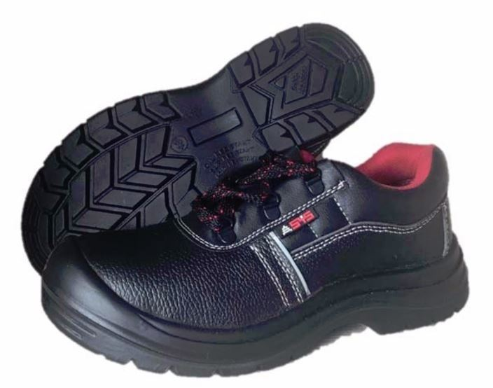 NINJA BLACK LOW CUT LACE-UP SAFETY SHOE C/W STEEL TOE CAP &  STEEL PLATE