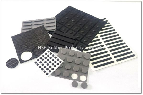 Rubber Footing with Adhesive Backed