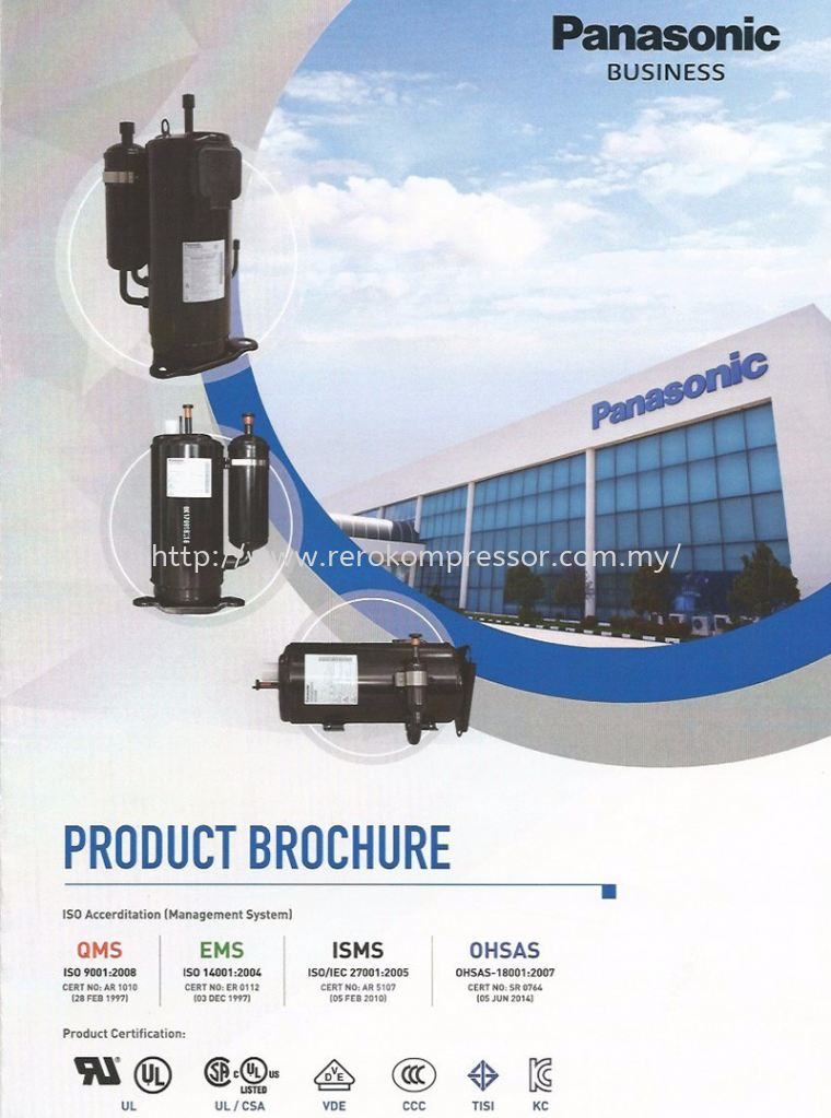 Panasonic Malaysia Product Brochure Panasonic Malaysia Air Conditioner Compressor Panasonic