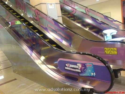 Escalator Glass Panel Sticker