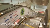 Escalator Glass Panel Sticker Escalator Glass Panel Sticker Inkjet Printing