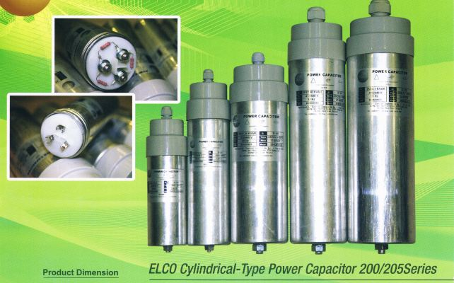 ELCO 200 SERIES 3.0 KVAR CYLINDER TYPE CAPACITOR BANK 440V C/W 1MTR WIRE (WEIGHT-596G)