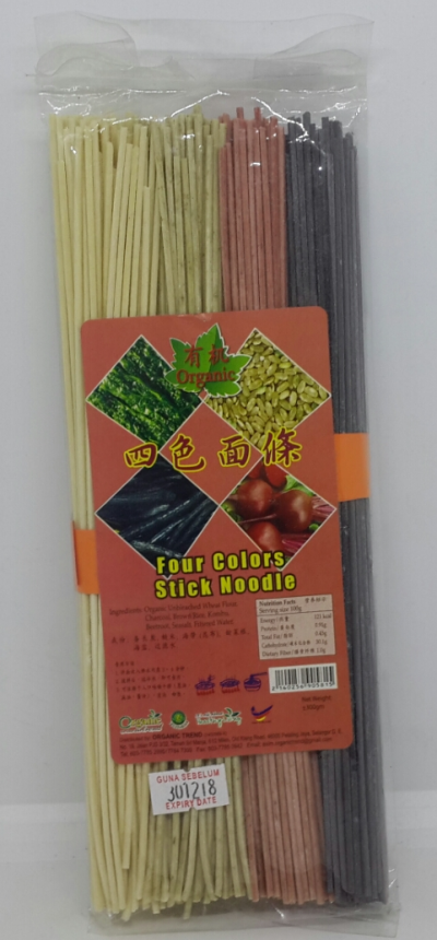 4 COLORS STICK NOODLES*ORGANIC*�л���ɫ����
