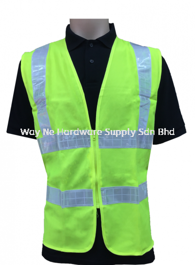 Safe Vest Lime Green + Reflector with Zip