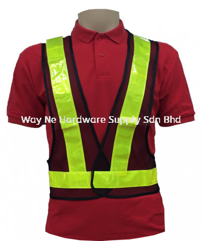 Safety Vest V Neck ( Netting ) Black + Yellow