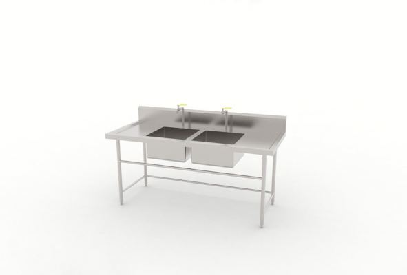 Double Bowl Sink Table