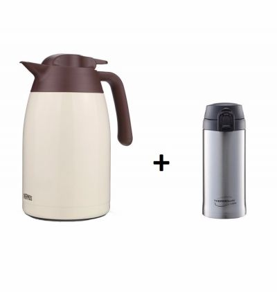 THERMOS 1.5l Stainless Steel + 350ml Stainless Vacuum Insulated Tumbler